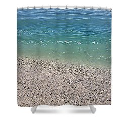 Pristine Beach  Shower Curtain