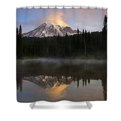 Pristine Reflections Shower Curtain by Mike  Dawson