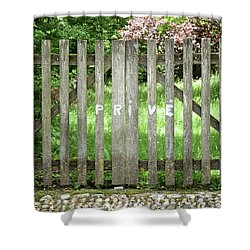 Privacy Please Shower Curtain by Colleen Williams