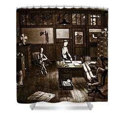 Private Eye Shower Curtain by Bob Orsillo
