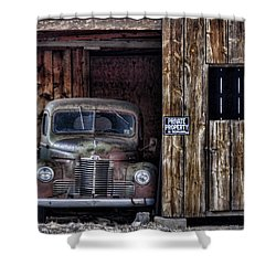 Private Parking Shower Curtain by Ken Smith