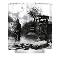 Private Way  Shower Curtain by Mariusz Zawadzki