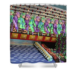 Prize Monkeys Shower Curtain
