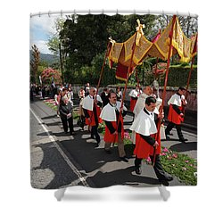 Procession In Azores Islands Shower Curtain by Gaspar Avila