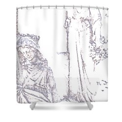 Shower Curtain featuring the photograph Procession Of Faith 2 by Linda Shafer