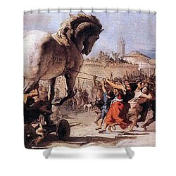 Procession Of The Trojan Horse  Shower Curtain