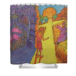 Prodigal Son Parable Painting By Bertram Poole Shower Curtain by Thomas Bertram POOLE
