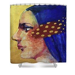 Profilo Di Donna Shower Curtain by Alessandro Andreuccetti