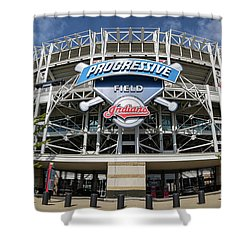 Shower Curtain featuring the photograph Progressive Field by Dale Kincaid
