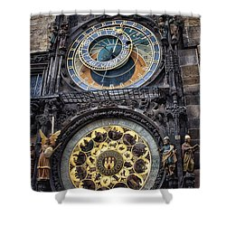 Progue Astronomical Clock Shower Curtain