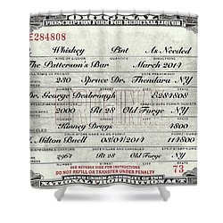 Shower Curtain featuring the photograph Prohibition Prescription Certificate Personalized by David Patterson