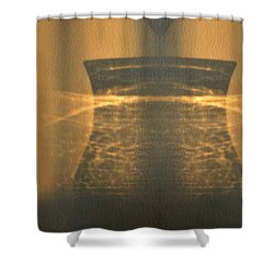 Shower Curtain featuring the photograph Projection On The Wall  by Lyle Crump