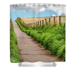 Promenade In Stonehaven Shower Curtain by Sergey Simanovsky