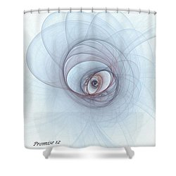 Promise 12 Footprints In The Sand Shower Curtain