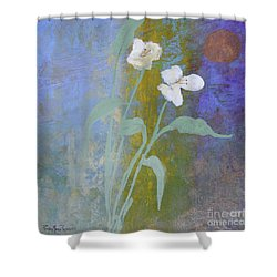 Shower Curtain featuring the painting Promise by Robin Maria Pedrero