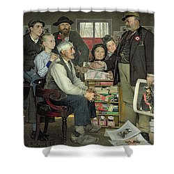 Propaganda Shower Curtain by Jean Eugene Buland