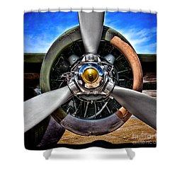 Propeller Art   Shower Curtain