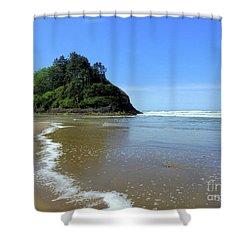 Proposal Rock Coastline Shower Curtain