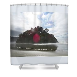 Proposal Rock Offering - Oregon Coast - Photography Shower Curtain
