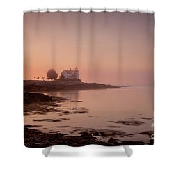 Shower Curtain featuring the photograph Prospect Harbor Dawn by Susan Cole Kelly
