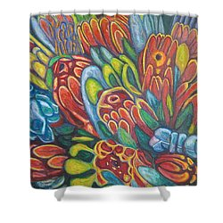 Proteas At Noon 2015 Shower Curtain