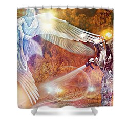 Protect Our Firefighters Shower Curtain