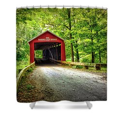 Protected Crossing In Summer Shower Curtain