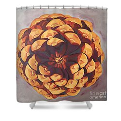 Shower Curtain featuring the painting Protected by Erin Fickert-Rowland
