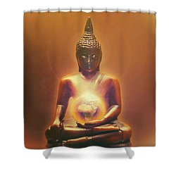 Protecting Earth Shower Curtain