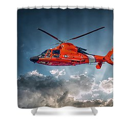 Protecting The Coast Shower Curtain