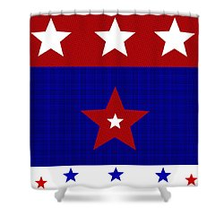 Proud American Stars Shower Curtain