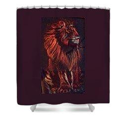 Proud King Shower Curtain by Ellen Canfield