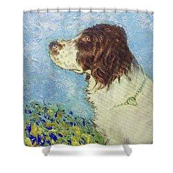 Proud Spaniel Shower Curtain