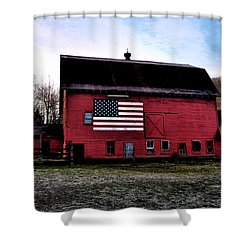 Proud To Be American Shower Curtain by Bill Cannon