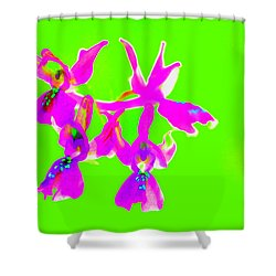 Green Provence Orchid  Shower Curtain