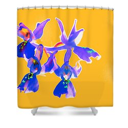 Orange Provence Orchid  Shower Curtain
