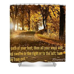 Proverbs104 Shower Curtain