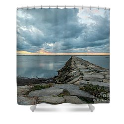 Provincetown Breakwater #3 Shower Curtain