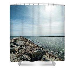 Provincetown Breakwater Shower Curtain