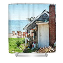 Provincetown Shed Shower Curtain