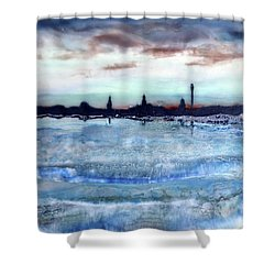 Provincetown Skyline 1 Shower Curtain