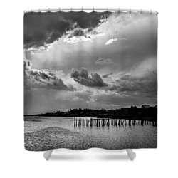 Shower Curtain featuring the photograph Provincetown Storm by Charles Harden