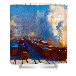 Proviso Classification Yard 1942 Shower Curtain