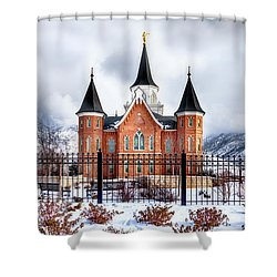Provo City Center Temple Lds Large Canvas Art, Canvas Print, Large Art, Large Wall Decor, Home Decor Shower Curtain