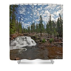 Provo River Falls Shower Curtain