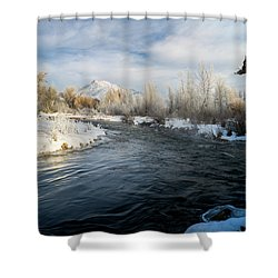 Provo River In Winter Shower Curtain