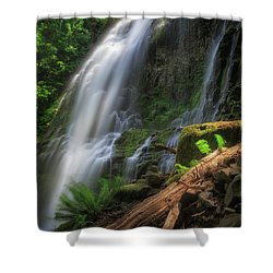 Shower Curtain featuring the photograph Proxy Falls by Cat Connor