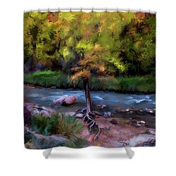 Psalm 1 Shower Curtain by Annette Berglund