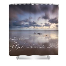 Psalm 19 1 Shower Curtain