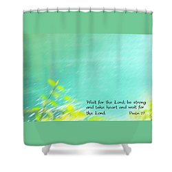 Psalm 27 Shower Curtain